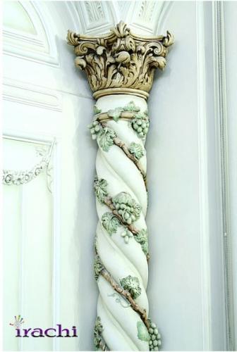 نمای پتینه روی ستون