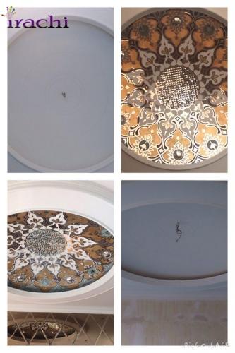 آینه کاری و پتینه تلفیقی بر روی سقف